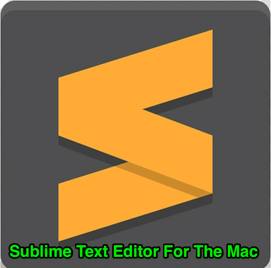sublime text editor for the mac