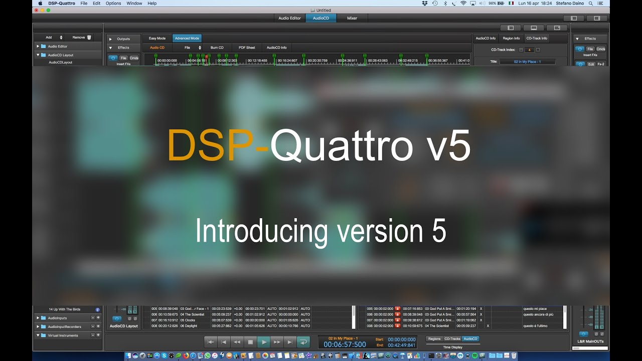 DSP-Quattro For Mac v5.5.1 Audio File Editing, AudioCD Plug-in For MacOS